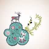 Reindeer wallpaper Royalty Free Stock Images