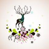 Reindeer wallpaper Stock Photos