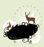 Reindeer wallpaper Stock Images