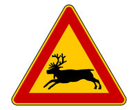 Reindeer warning sign Stock Images