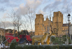 Reindeer, Wells Cathedral Stock Image