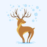 Reindeer Winter Background Cartoon Deer Royalty Free Stock Image