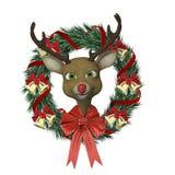 Reindeer Wreath Stock Image