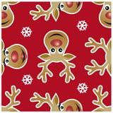 Reindeer xmas seamless patterns Royalty Free Stock Photos