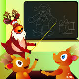 Reindeers' school Stock Photo