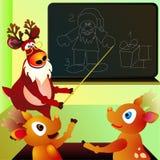 Reindeers' school Stock Photo