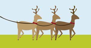Reindeers cartoon Royalty Free Stock Images