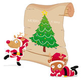Reindeers celebrating christmas Royalty Free Stock Image