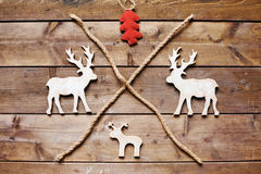 Reindeers and firtree Royalty Free Stock Photography