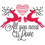 Reindeers with heart Royalty Free Stock Images
