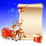Reindeers is jumping on the sign Royalty Free Stock Images