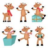 Reindeers set stock illustration