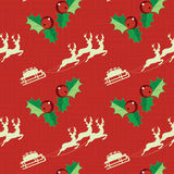 Reindeers with sledge pattern Stock Photography