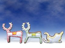 Reindeers and sleigh Royalty Free Stock Photography