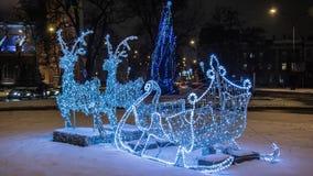 Reindeers winter Santa Claus Christmas Stock Images