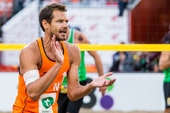 Reinder Nummerdor during World Cup Beach volleyball Royalty Free Stock Photos