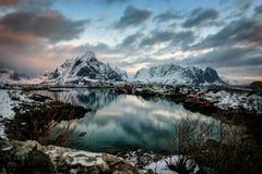 Reine Νορβηγία Στοκ φωτογραφίες με δικαίωμα ελεύθερης χρήσης
