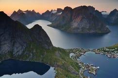 Reine, острова Lofoten, Норвегия Стоковая Фотография