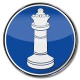 Reine d'échecs dans un jeu illustration de vecteur