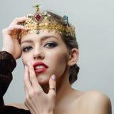 Reine dans la couronne précieuse Image libre de droits