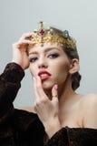 Reine dans la couronne précieuse Images libres de droits