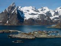 Reine dans Lofoten photographie stock libre de droits