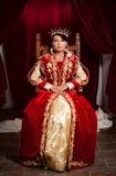 Reine dans un château médiéval Photographie stock
