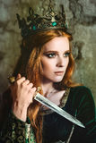 Reine de gingembre près du château Photos libres de droits