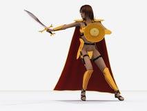 Reine de guerrier de Boudica (Boadicea) de l'Iceni Photo stock