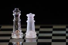 reine de roi d'échecs Image libre de droits