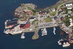Reine- Dorf auf Lofoten Inseln in Norwegen Lizenzfreie Stockfotos