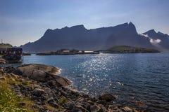 Reine em Lofoten em Noruega fotos de stock royalty free