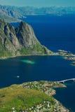 Reine en el Lofoten (Noruega) Fotos de archivo libres de regalías