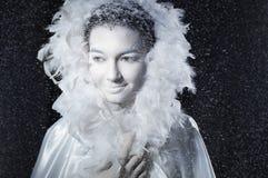 Reine en gros plan de neige de portrait Images libres de droits