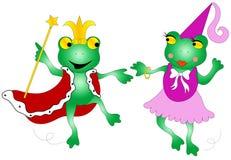 Reine et grenouilles de roi illustration libre de droits