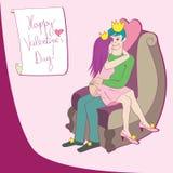 Reine et roi d'amour illustration libre de droits