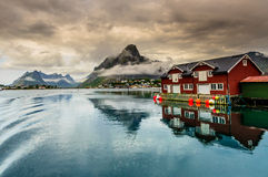 Reine fishing village Royalty Free Stock Photos