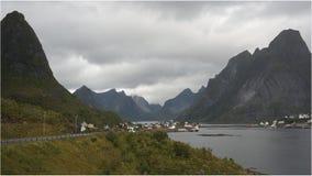 Reine. Fishing village hidden between two rocks, Lofoten peninsula, Norway Royalty Free Stock Image