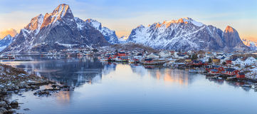 Reine fishing village Royalty Free Stock Photography