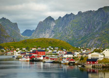 Reine fishing village Stock Photo