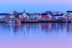 Reine fishing village Royalty Free Stock Photo