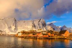 Reine fishing village Stock Image