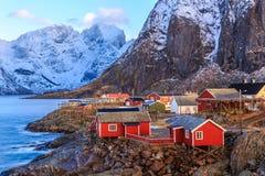 Reine fishing village Stock Photo