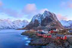 Reine fishing village Stock Photography