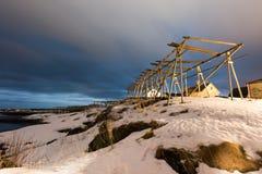 Reine, islas de Lofoten, Noruega Imagenes de archivo