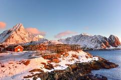Reine, islas de Lofoten, Noruega Imágenes de archivo libres de regalías