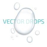 Reine klare Wassertropfen Vektor auf Lager stock abbildung