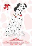 Reine Liebe von zwei Dalmatinern für Valentinsgruß-Tag stock abbildung