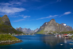 Reine on Lofoten Stock Image