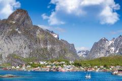 Reine Lofoten. The beautiful village of Reine on the Lofoten in Norway Royalty Free Stock Photos